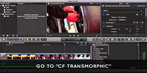 CineFlare Transmorphic For Final Cut Pro X Full
